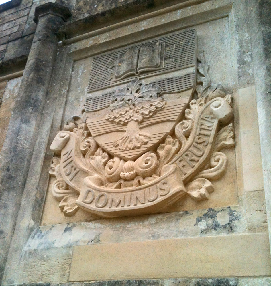 Finished Bathstone Coat of Arms for School