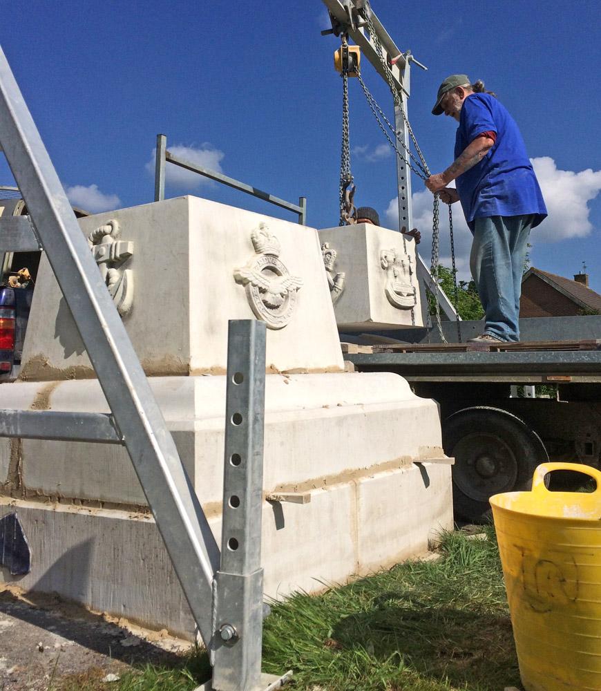 Fixing Portland Stone Rifles Memorial Shaftesbury