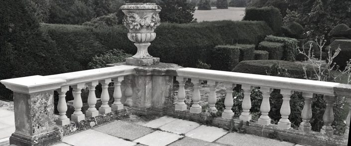 Harry Jonas Stonemasonry - Restoration - New Balusters and Coping bw