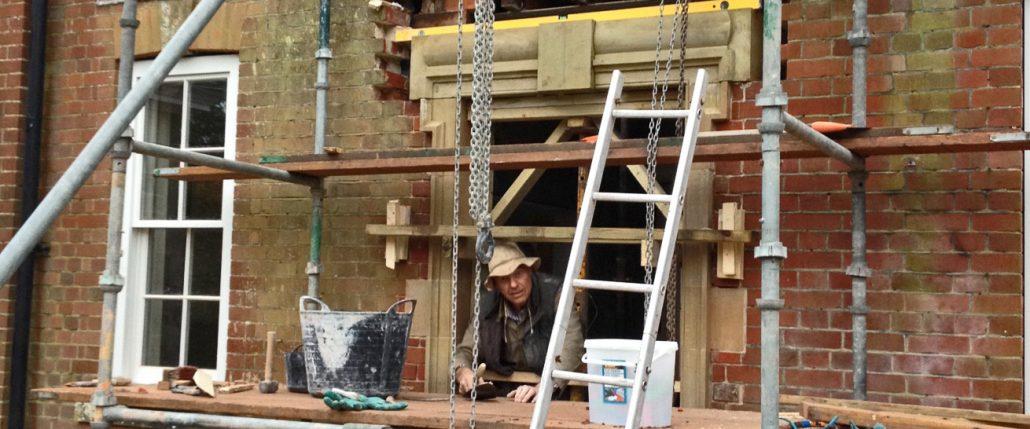 Harry Jonas Stonemasonry - Working on a Door Surround