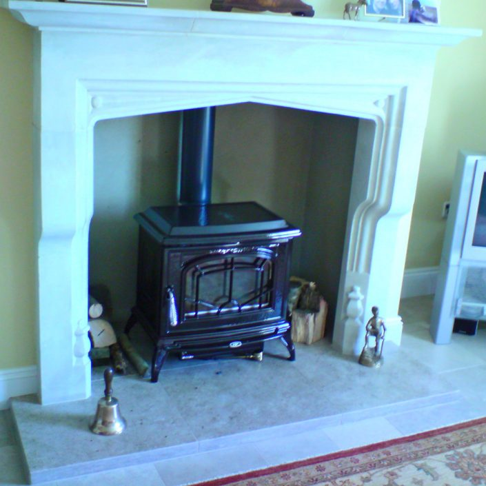 Large Corbelled Chicksgrove Tudor Fireplace