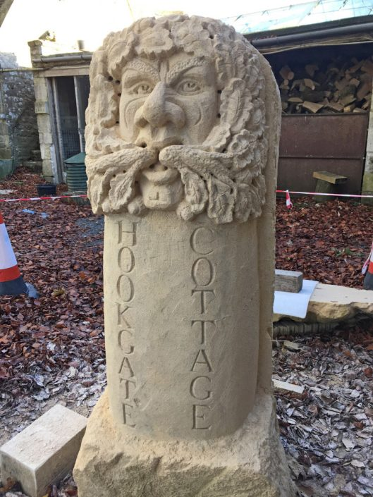Large Greenman in Bathstone Housename
