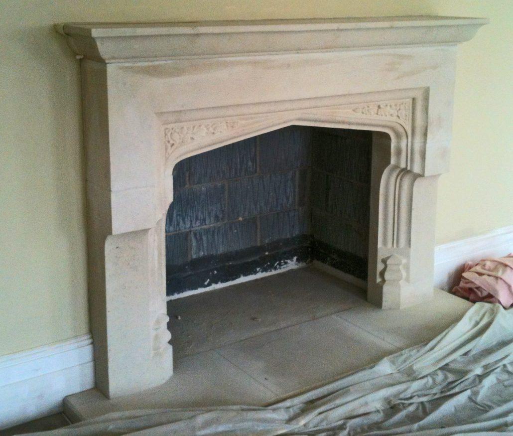 Large Marnhull corbeled fireplace