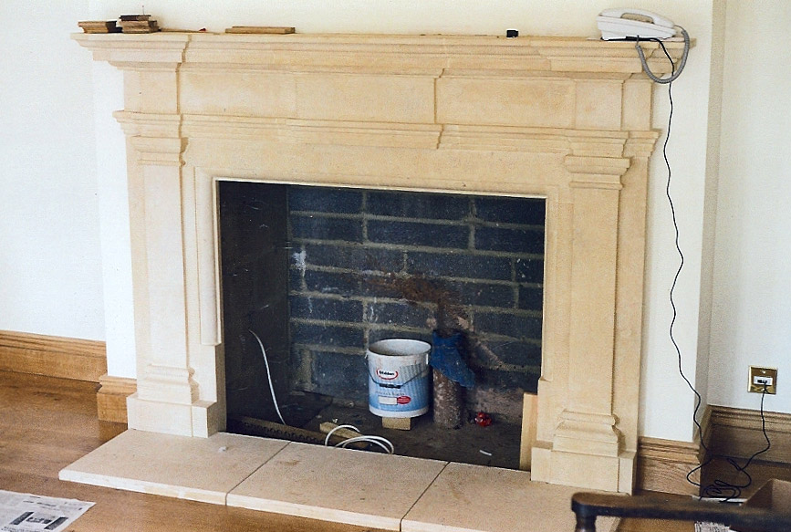 Lincoln Silver Fire Place