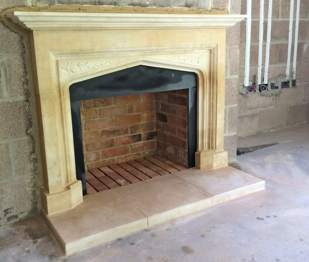 Lincoln Silver Fireplace Tudor style