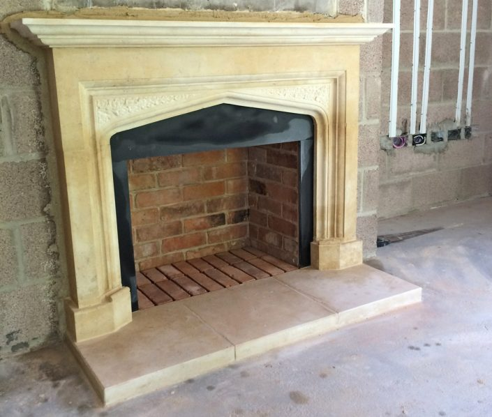 Portfolio harry jonas stonemasonry for Tudor style fireplace