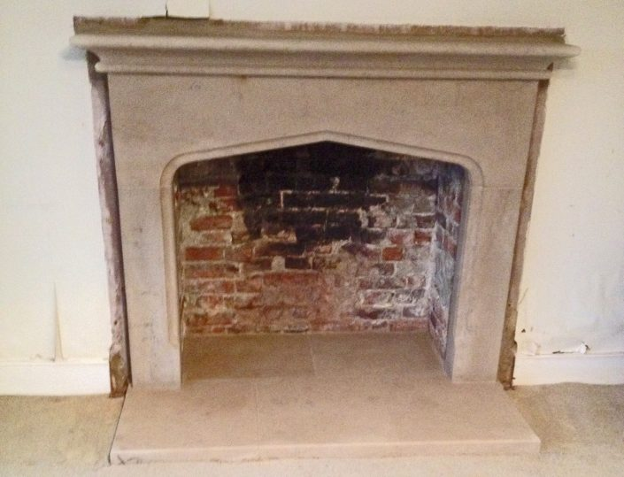 Marnhull Gothic Fireplace with rolls
