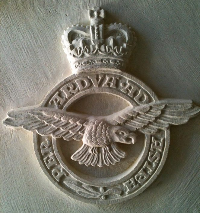 RAF Badge Carved in Portland Stone