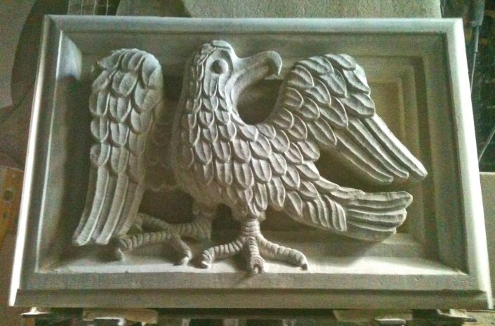 Shaston Eagle Carved in Chicksgrove Stone