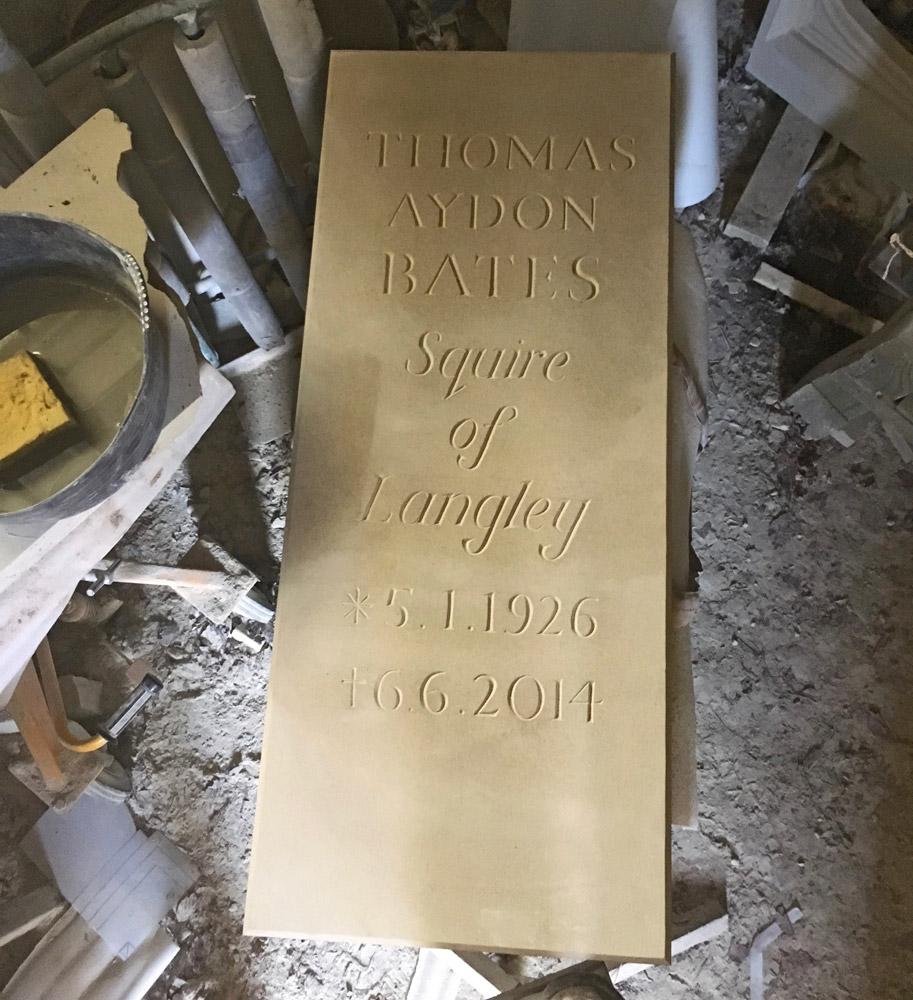 Yorkstone Hand Lettercarved Ground Marker
